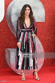 LONDON, ENGLAND - JUNE 13: Sandra Bullock attends the European Premiere of 'Ocean's 8' at Cineworld Leicester Square on June 13, 2018 in London, England. (Photo by Karwai Tang/WireImage)