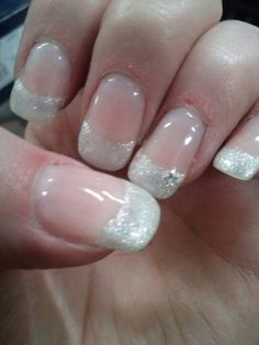 Pretty twist to a classic french manicure