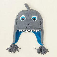 accessories - accessories - shark microfleece hat | Children's Clothing | Kids Clothes | The Children's Place