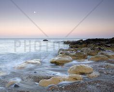 Moonrise over the Sea - Wall Mural & Photo Wallpaper - Photowall
