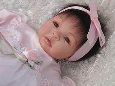 Reborn Baby Shyann by Aleina Peterson - Brown Eyes & Hair - 4 hair accessories | eBay