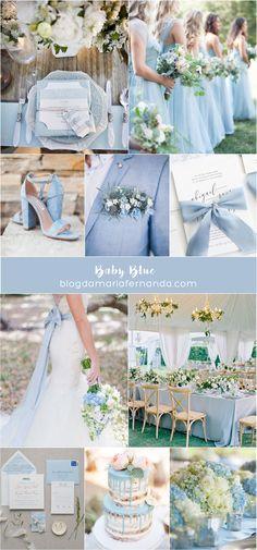 Decoração de Casamento : Paleta de Cores Baby Blue