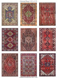 ANTIQUE ORIENTAL RUG   Digital Collage Sheet  by vintagewarehouse, $2.50