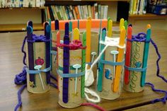 spool knitting from a paper towel tube