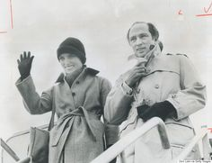 Prime Minister Pierre Trudeau and his wife Margaret Ottawa 1977 Popular People, Justin Trudeau, Prime Minister, Politicians, Guys, History, Ottawa, Parents, Canada