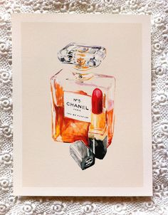 No5 and Rouge A3 Giclée Print. by mbaileyillustrations on Etsy, $22.00