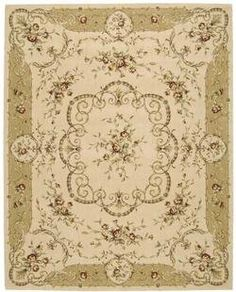 Nourison Grand Chalet CL07 13' x 21' Ivory Area Rug by Nourison. $4419.15. Nourisons Grand Chalet Collection features classic European and transitional designs that will enhance the ambience of the most sophisticated interior dcor. Offered in a wide assortment of shape and size options, including elegant scalloped rounds, high fashion ovals, and mansion-size squares and rectangles - all, of course, in addition to a full assortment of standard room sizes and runners. A beautiful...