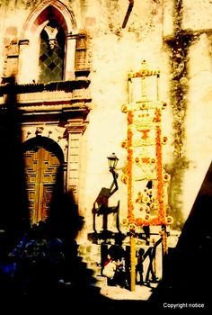 corn sculpture - fiesta de San Miguel
