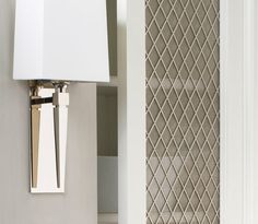 mesh cabinets for kitchen and family room: OBrien Harris :. Metal Mesh, Custom Cabinetry, Cabinet Doors, Media Cabinet, Modern Kitchen Design, Beautiful Kitchens, Home Renovation, Home Kitchens, Diy Furniture