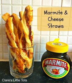 Marmite and cheese straws. The best combination of food ever! This easy recipe is great for kids to help out with and ideal for baby led weaning or an easy toddler snack. (cooking with kids snacks) Kids Cooking Recipes, Baby Food Recipes, Kids Meals, Easy Meals, Cooking Games, Easy Cooking, Healthy Cooking, Cooking Turkey, Family Recipes