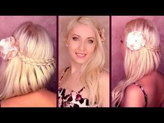Romantic prom hairstyle for medium long hair Braided wedding half updo with curls for Valentines