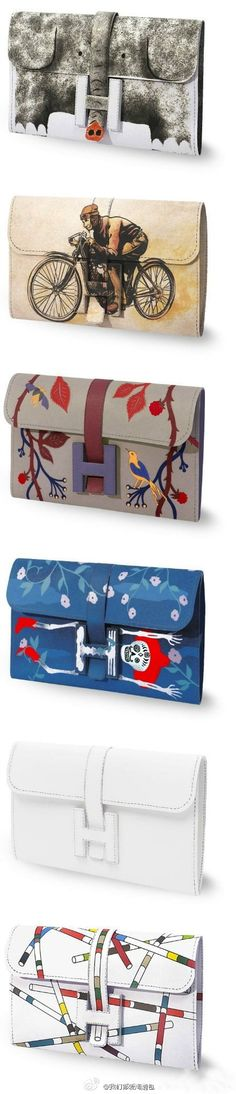 A range of very unique and stylish Hermes clutch bags.  The elephant style is the one i like most. Which do you guys like?