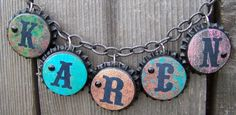 Bottle cap charm bracelet