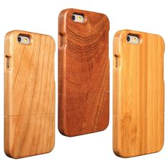 Sale 21% (8.99$) - Wooden Wood Back Cover Bamboo Protective Hard Case Skin Shell For Apple iPhone 6 6S 4.7 inch