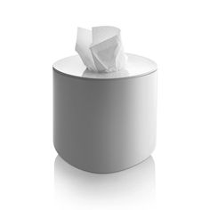 Discover the Alessi Birillo Round Tissue Box - White at Amara