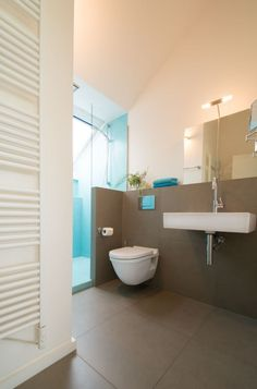 aménagement de petite salle de bains toilettes et lavabo