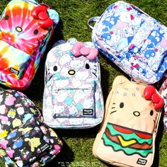 Get ready for Back To School with Hello Kitty​! Visit Sanrio for supercute backpacks and more! Hello Kitty, August 2017