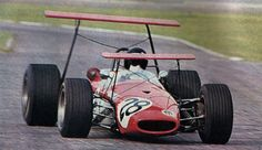 1968 Carlos Reutemann testing Eduardo Copello's Brabham BT23C Cosworth FVA during the XVII Temporada Argentina
