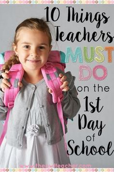 Rules, procedures, and expectations must always be taught on the 1st day of school - but you should be doing other things on that first day, too! Read this list of 10 things every teacher must do on the 1st day of school.