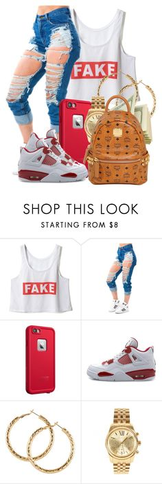 """High"" by baby-marii ❤ liked on Polyvore featuring LifeProof, NIKE, H&M, Michael Kors and MCM"