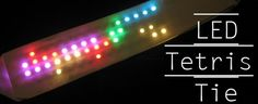The LED Tetris Tie by Bill P is the height of Geeky chic