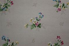 1920's Antique Vintage Wallpaper Pretty Flower by RosiesWallpaper, $15.00