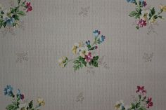 1920's Antique Vintage Wallpaper Pretty Flower by RosiesWallpaper, $15.00
