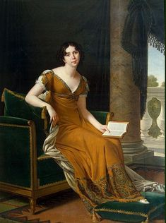 Baronne Elisabeth Alexandrovna Stroganoff, épouse Demidoff by Robert Lefèvre, circa 1800-1805