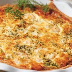 Mehukas katkarapupiirakka | Leivonnaiset | Yhteishyvä Swedish Recipes, Quiche, Pizza, Cheese, Baking, Breakfast, Morning Coffee, Bakken, Quiches
