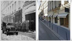 Soldati  Americani in coda davanti  il negozio  CHANEL  Rue Cambon  31  Parigi.  #PARIGI1944