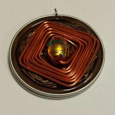Pendentif en capsule de café nespresso de couleur