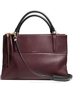 cfa9632cc44 COACH BOROUGH BAG IN PEBBLED LEATHER - COACH - Handbags  amp  Accessories -  Macy s Zoe