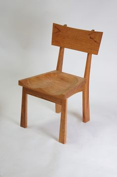 Enso Dining Chair Solid Wood Handmade Organic