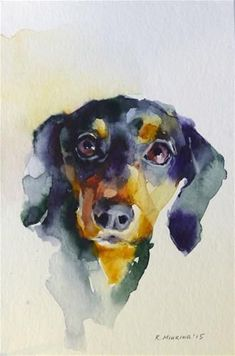 "Daily+Paintworks+-+""adopt129""+-+Original+Fine+Art+for+Sale+-+©+Katya+Minkina #watercolorarts"