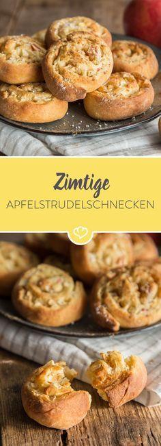 Apfelstückchen werden fein gewürfelt und mit Zimt gewürzt, in einen fluffigen Heferteig eingerollt und knusprig ausgebacken - dein Nachmittag ist gerettet!