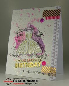 Card by Cornelia using PartyGirl and Party Time