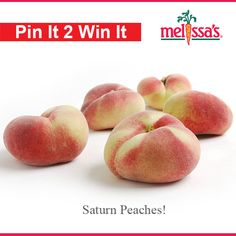 Repin this Pin to WIN a box of Melissa's Delicious Saturn Peaches!!
