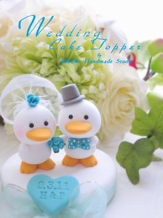 Wedding Cake Topper-love duck by charles fukuyama For you @Mary Klinghard