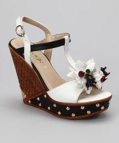 Bumper Bumper White Dolores-02 Wedge Sandal