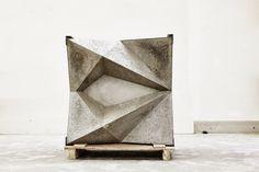 Concrete sample of Hong Kong flagship  facade - Rick Owens