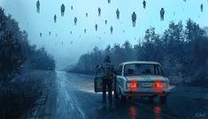 """Illustration from """"A Chernobyl Horror Story"""" series by Stefan Koidl Chernobyl, Arte Horror, Horror Art, Fantasy Kunst, Fantasy Art, Creepy Art, Scary, Art Sinistre, Illustration Inspiration"""