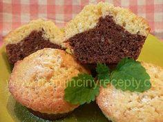 + 4 dvoubarevné muffiny