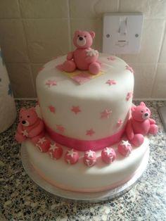 Girls christening cake Www.meloscakes.co.uk