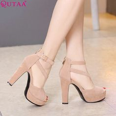 Gender: Women Item Type: Pumps Pump Type: Basic Lining Material: PU Style: Fashion Occasion: Party Toe Shape: Peep Toe Brand Name: QUTAA Upper Material: PU Fit: Fits true to size, take your normal size Platform Height: 0-3cm Model Number: yjhyi-087 Insole Material: PU With Platforms: Yes is_handmade: Yes Heel Type: Square heel Heel Height: High (5cm-8cm) Outsole Material: Rubber Fashion Element: Shallow Closure Type: Zip Season: Spring/Autumn CN size: 34 35 36 37 38 39 40 41 42 43 Heel…