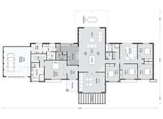 Not enough bathrooms - Happy Friday! This is such a great family plan if you have some space to build it on. The mudroom/laundry/scullery and then through to the. Best House Plans, Dream House Plans, House Floor Plans, 5 Bedroom House Plans, The Plan, How To Plan, Home Design Plans, Plan Design, Raked Ceiling