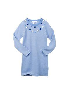 Pumpkin Patch - knitwear - popcorn tunic - W5GL30014 - blue allure - 5 to 12