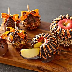 Giant Halloween Caramel Apple without Nuts