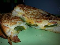 My  version- jalapeno popper grilled cheese! Yum!