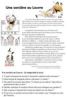 CE1 : La sorcière Camomille à Paris, de Roser Capdevilla « La classe des gnomes Ap French, Core French, Learn French, French Teaching Resources, Teaching French, French Conversation, French Worksheets, Reading Comprehension Activities, French Education