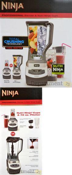 Blenders Countertop 133704: Ninja Professional Blender And Nutri Ninja Cups (1100 Watts) 140311 -> BUY IT NOW ONLY: $100 on eBay!